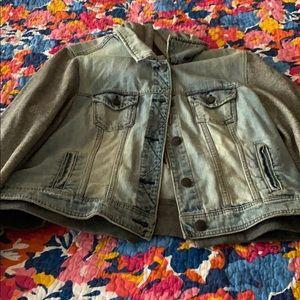 AE Blue Jean Bomber Jacket